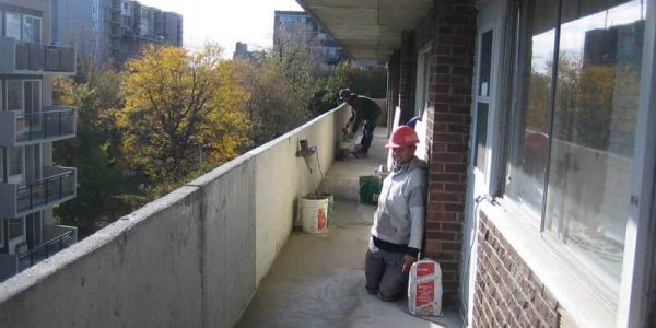 Réparation balcon en béton Immeuble à logement
