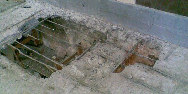 Plancher en béton - Duplex résidentiel